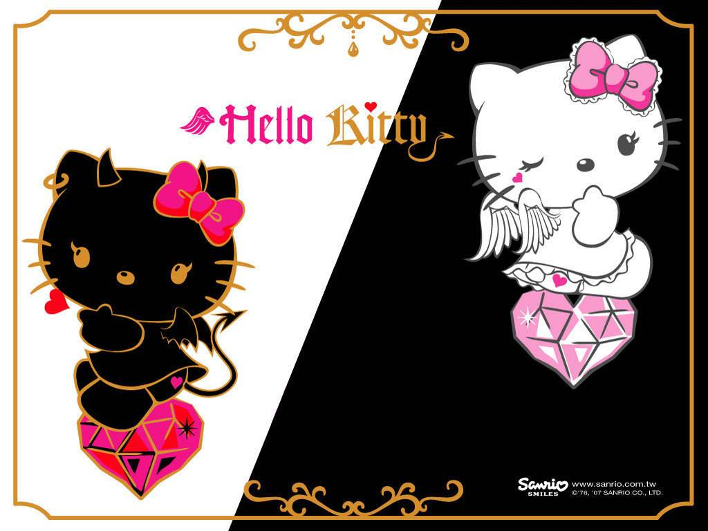Hello kitty angel and devil wallpaper   Hello Kitty Wallpaper 1024x768