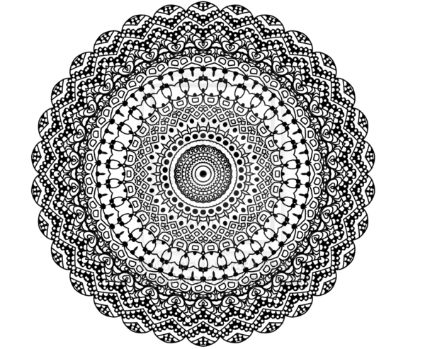 Mandala Wallpaper Black And White White on Black Mandala 600x493