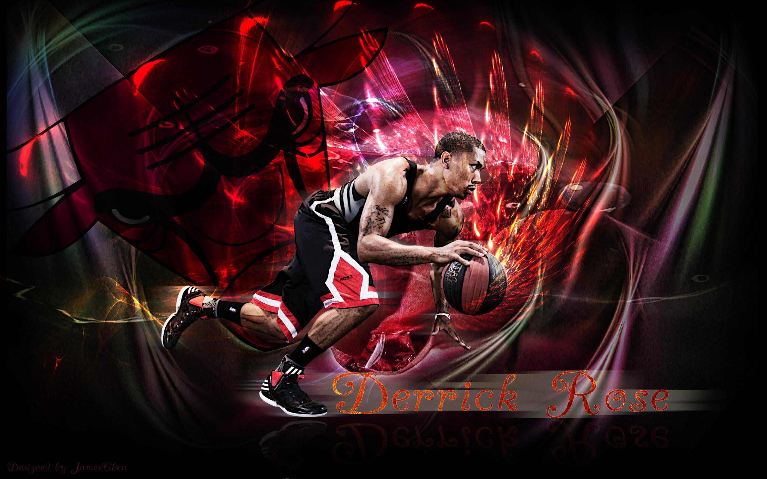 derrick rose basketball wallpaper bulls 2014 2560x1600