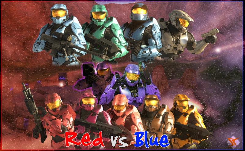 Halo Red Vs Blue Wallpaper Wallpapersafari