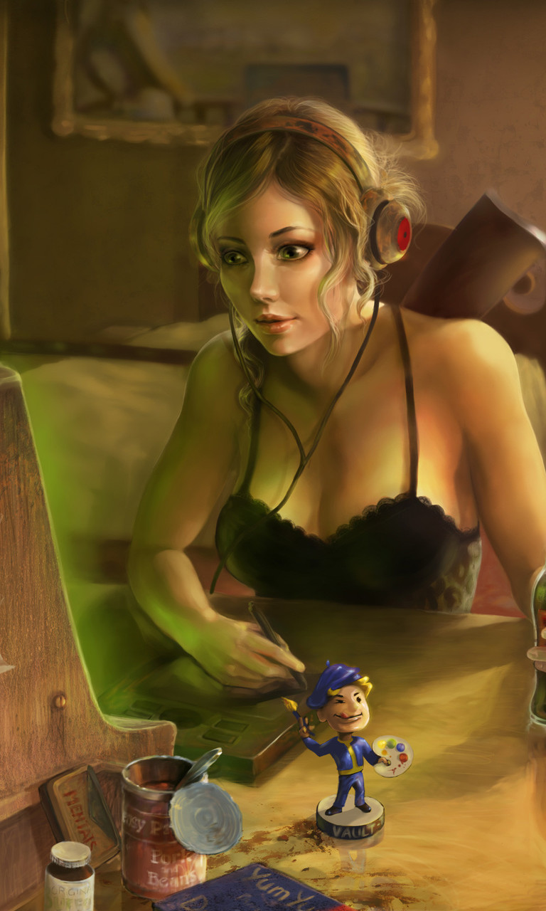 Gamer Girl Wallpaper for Dell Venue Pro 768x1280