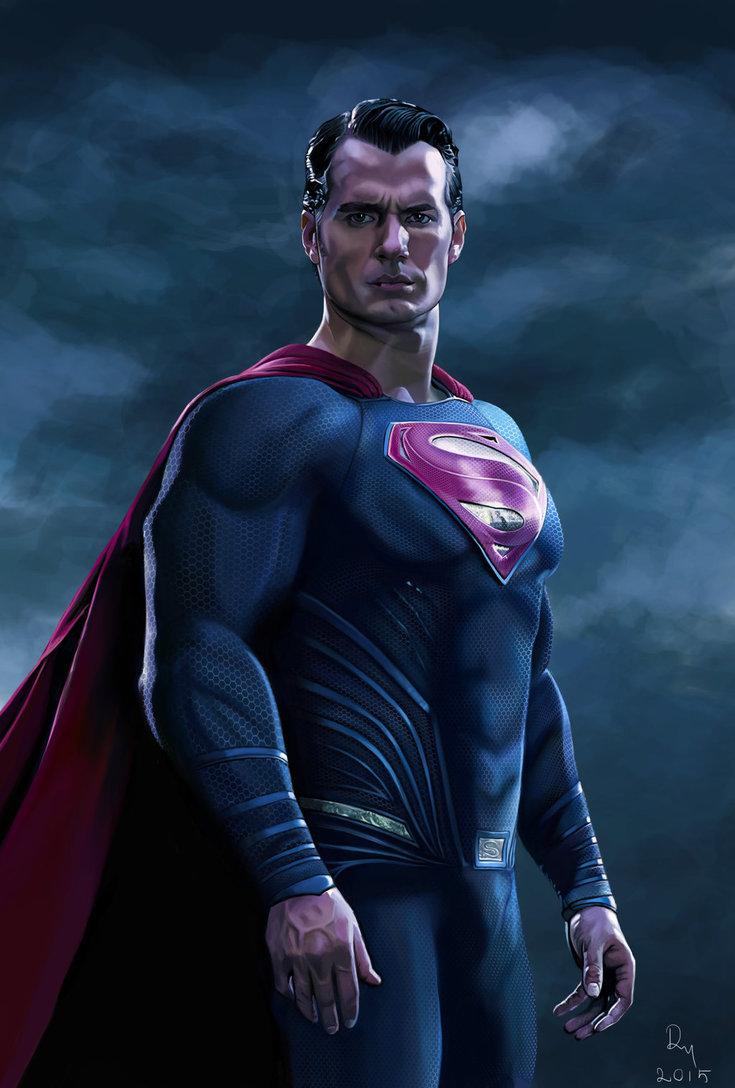 Batman v Superman Henry Cavill Painting by danb13 735x1088