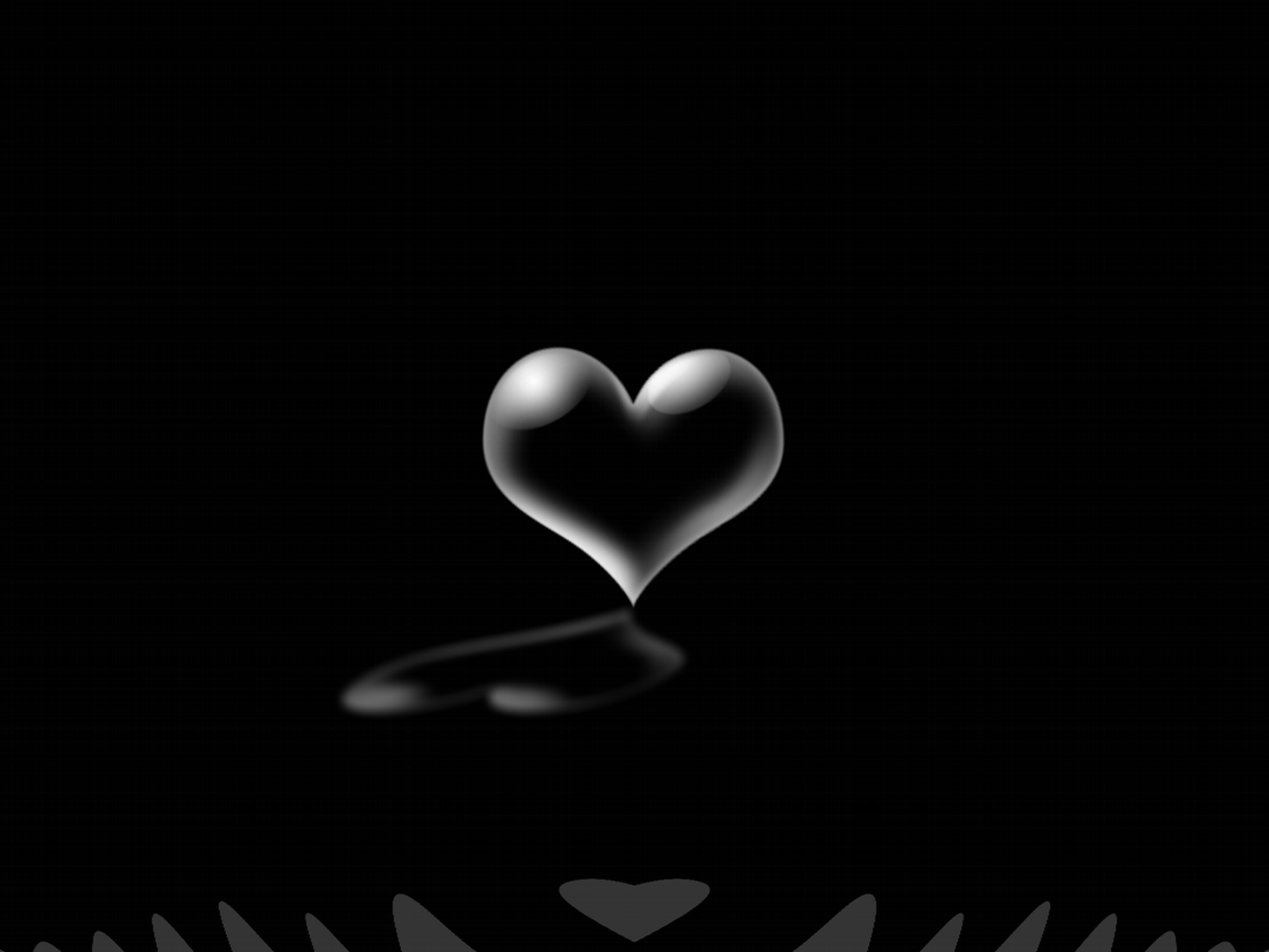 Wallpapers For Black And White Hearts Wallpaper 1600x1200