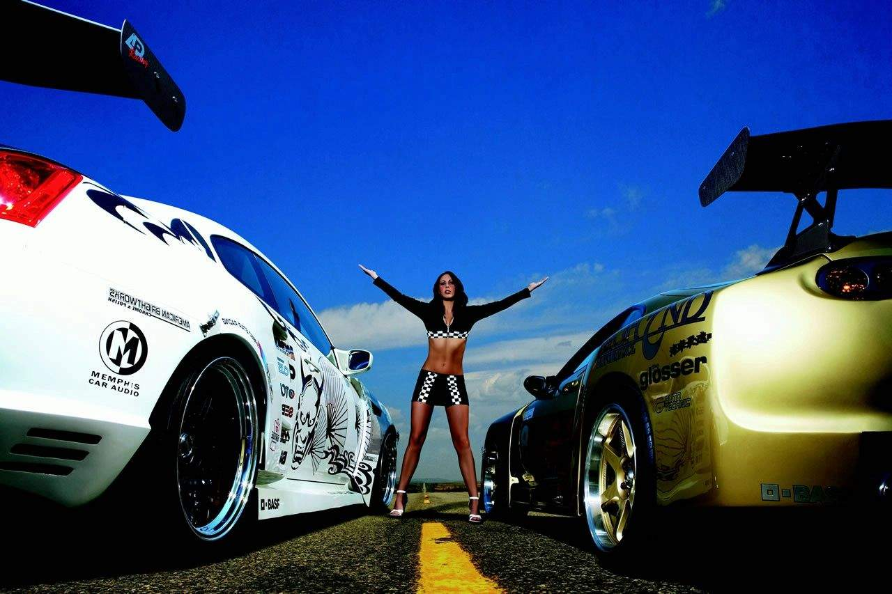 Cars Next Girls and Cars Wallpaper 1280x853