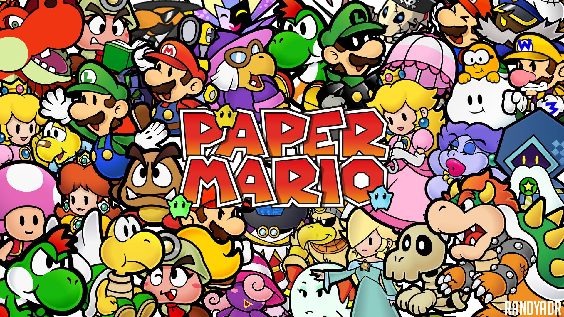 50 Paper Mario Wallpaper On Wallpapersafari