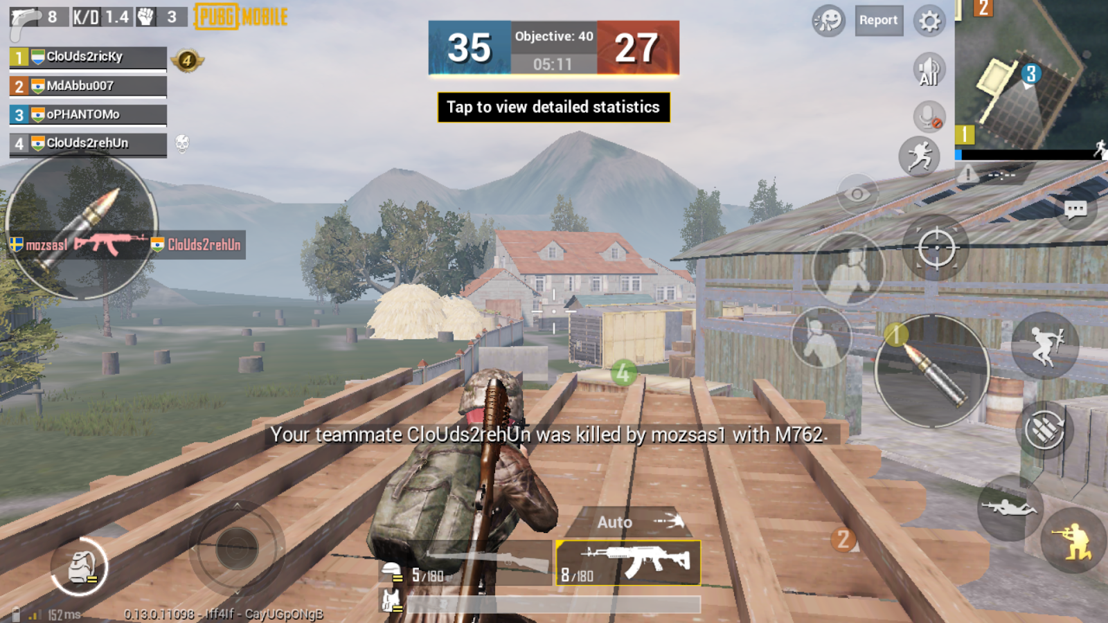 Best locations to attack on enemies in PUBG Mobile TDM mode 1600x900