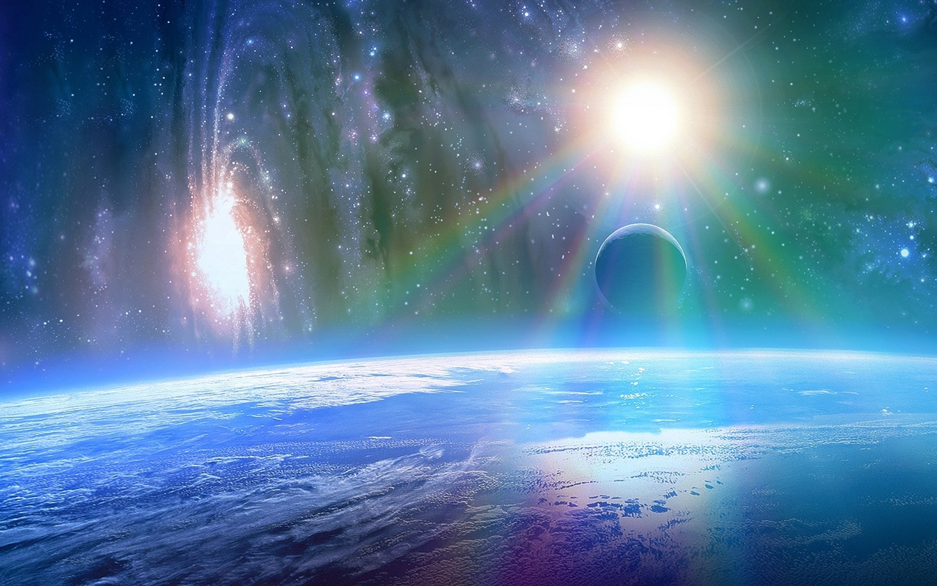 1920x1200 Bright Sunshine Outer Space desktop PC and Mac wallpaper 1920x1200