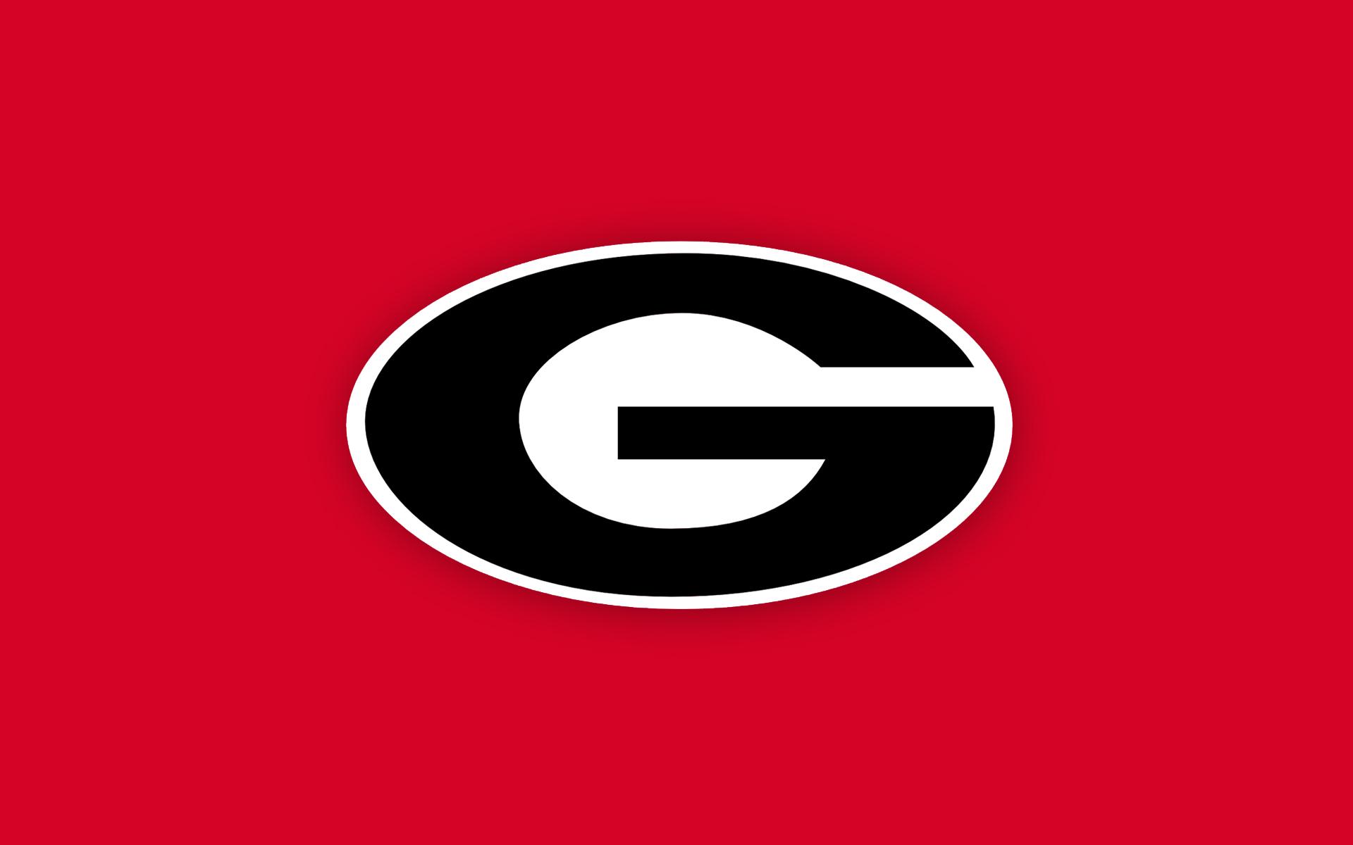 Georgia Bulldog Football Logo Wallpaper 1920x1200