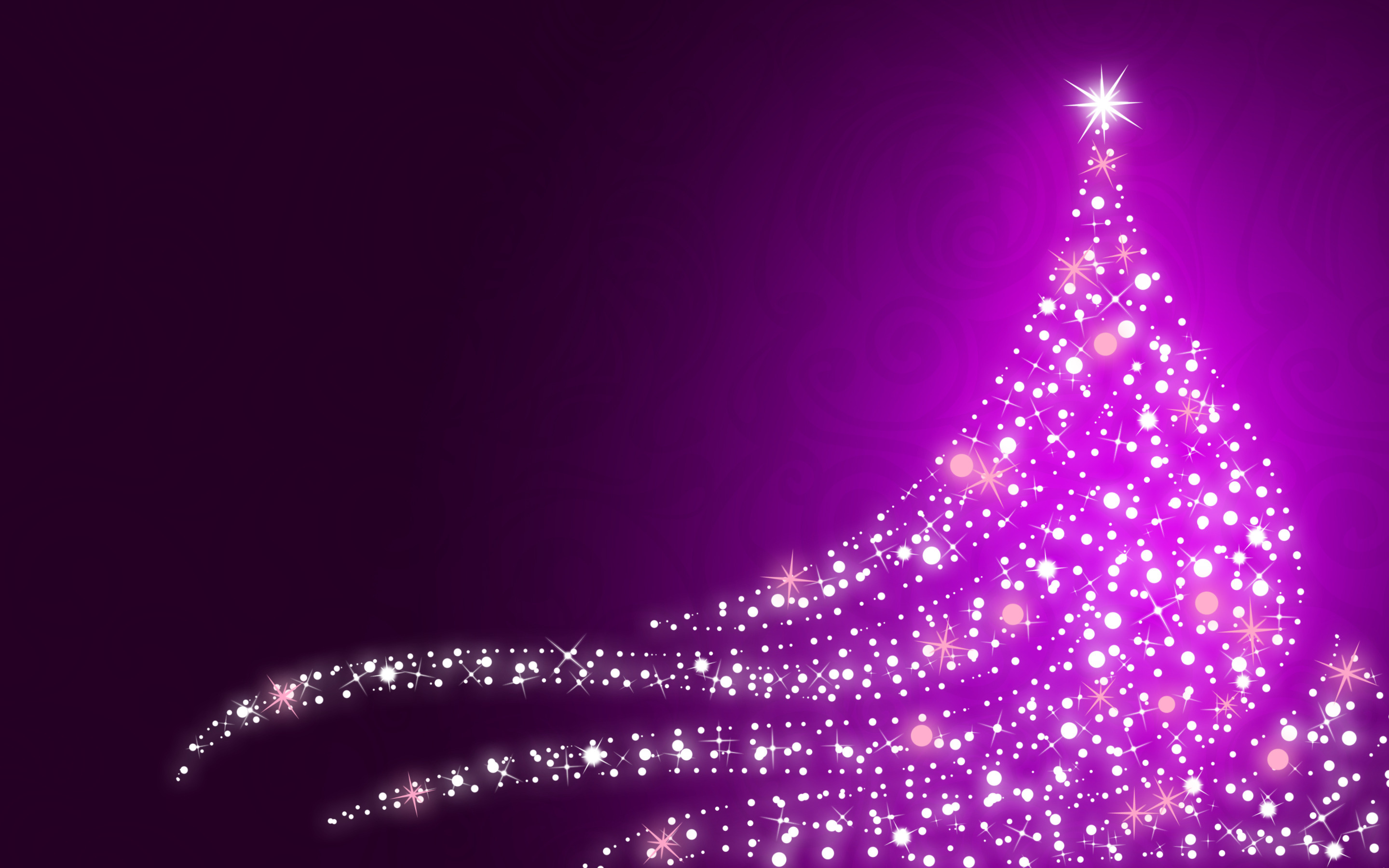Sparkling Christmas tree wallpaper 15932 2880x1800