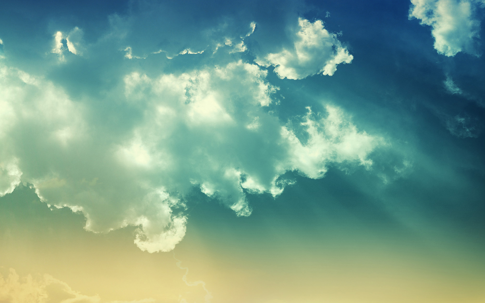 Image blue beige clouds wallpaper 1680x1050jpg   Simplest Image 1680x1050