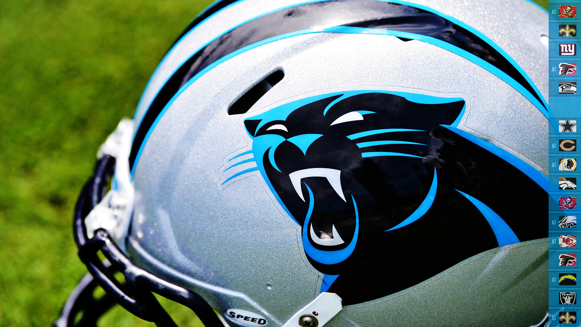 Carolina Panthers Helmet Wallpaper for Phones and Tablets 1920x1080