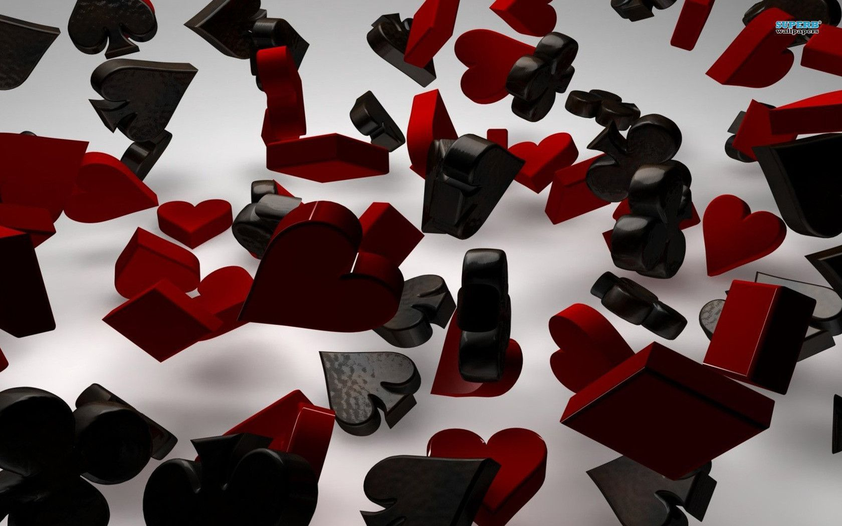 Playing card suits wallpaper   3D wallpapers 1680x1050