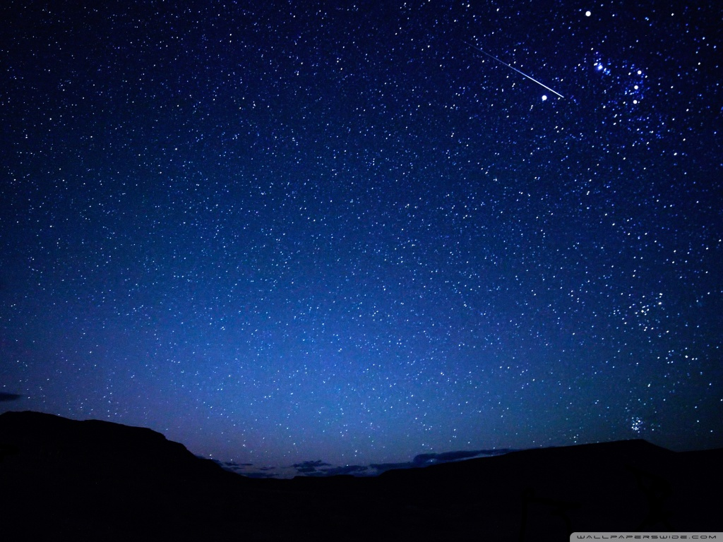 Falling Star 4K HD Desktop Wallpaper for 4K Ultra HD TV 1024x768