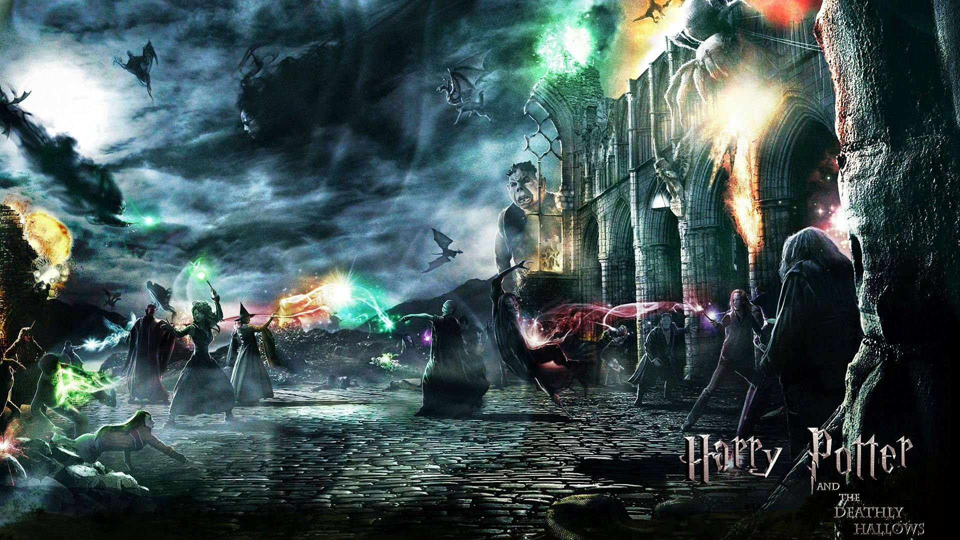 Fantasy Wizard Adventureharry Backgrounds Magic Poster 1920x1080