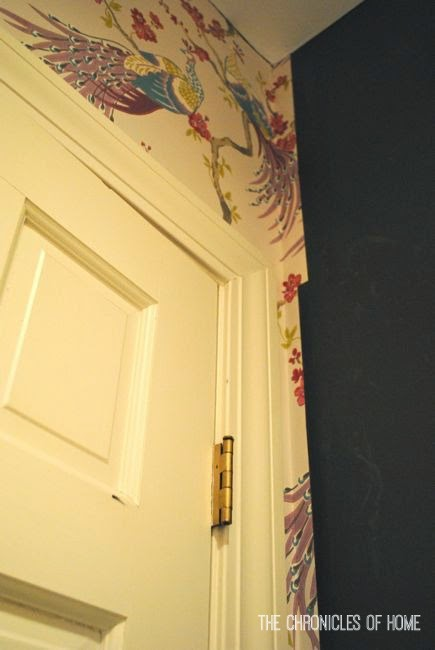 How to Hang Paste the Wall Wallpaper   The Chronicles of Home 435x650
