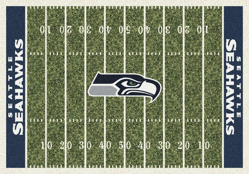 Seattle Seahawks NFL Football Home Field Logo Area Rug [P533321 C1084] 1000x700