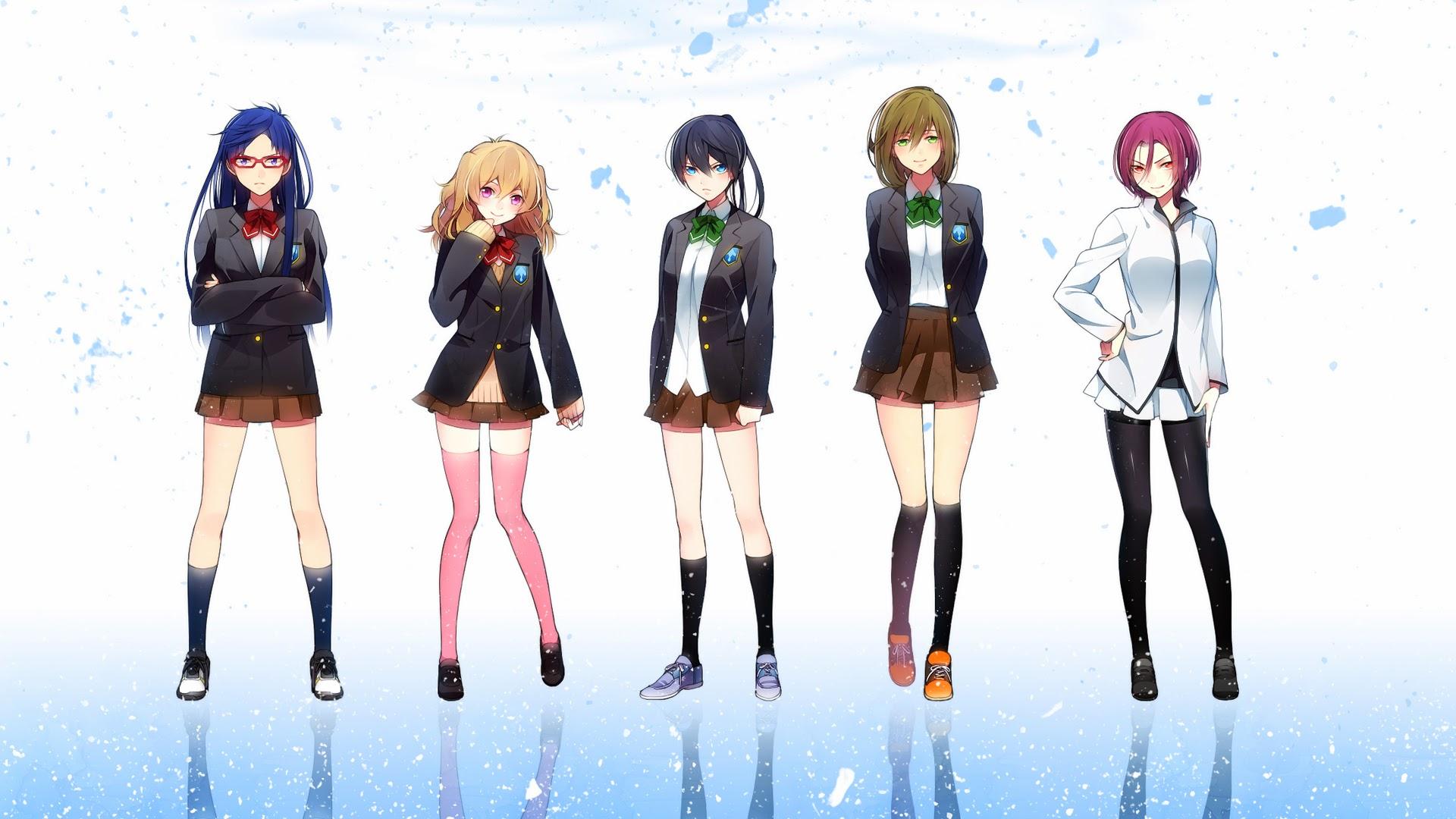 Iwatobi Swim Club Anime Boys characters Nagisa Hazuki Rin 1920x1080