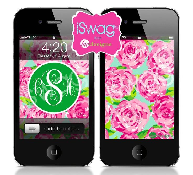 Personalized Monogram iPhone Wallpaper random Pinterest 736x668