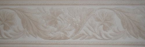 Taupe Leaf Molding Wallpaper Border Roll   Traditional   Wallpaper 500x164