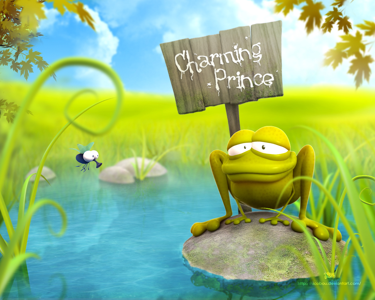 Green Desktop Wallpapers Cartoon Wallpapers Funny Cartoon wallpapers 1280x1024