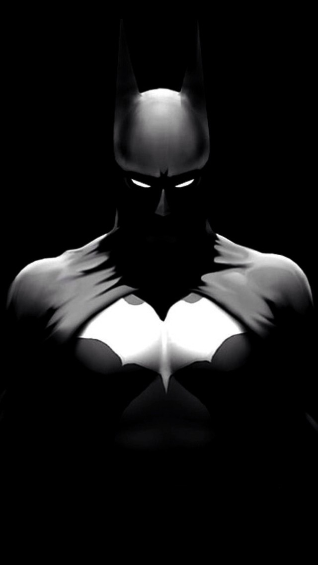 Black And White Batman   The iPhone Wallpapers 640x1136