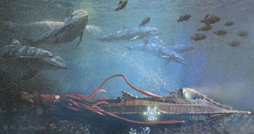 20 000 Leagues Under The Sea Disney Nautilus Submarine by Hallmark New 500x264