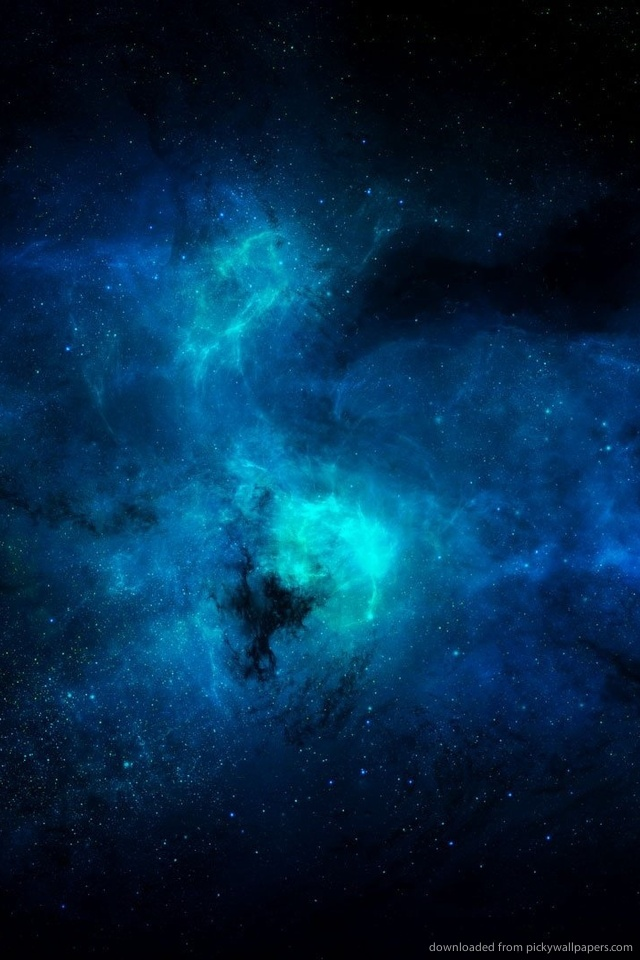 Beautiful Real Space Wallpapers Iphone Blue Space For Iphone 4 640x960