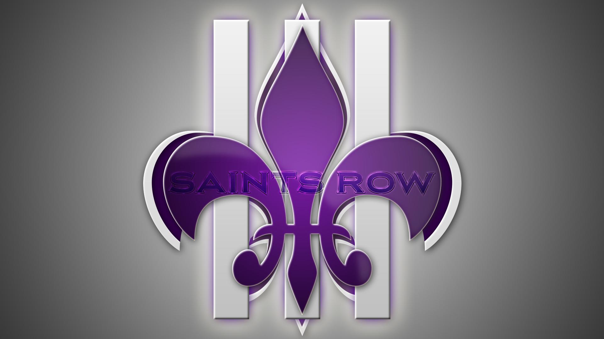 Saints Logo Purple Wallpaper Saints row 3 by 1920x1080