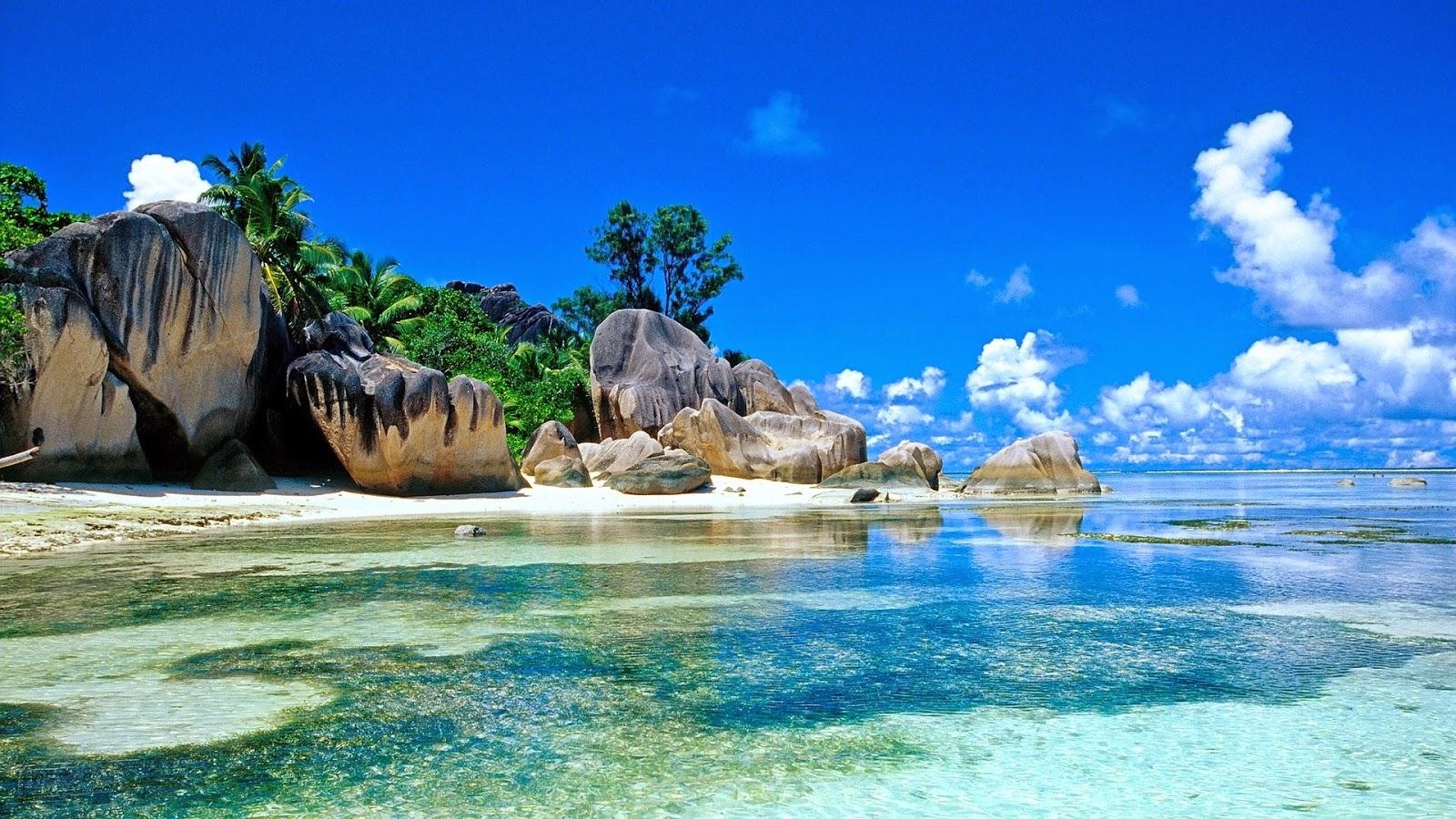 Widescreen tropiccal beach 1080p HD wallpapers for desktopjpg 1600x900