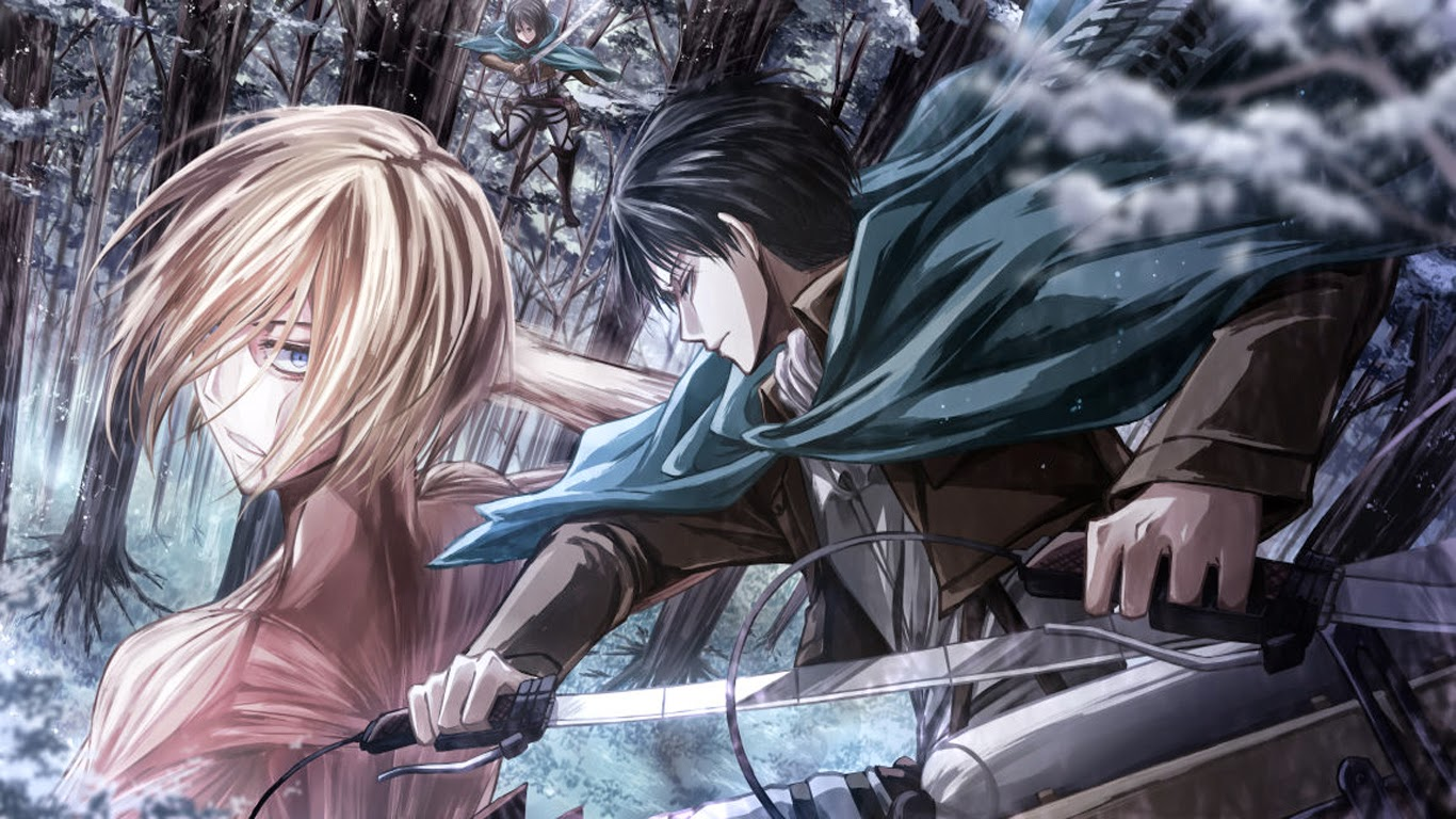 Annie leonhardt female titan levi attack on titan hd wallpaperjpg 1366x768