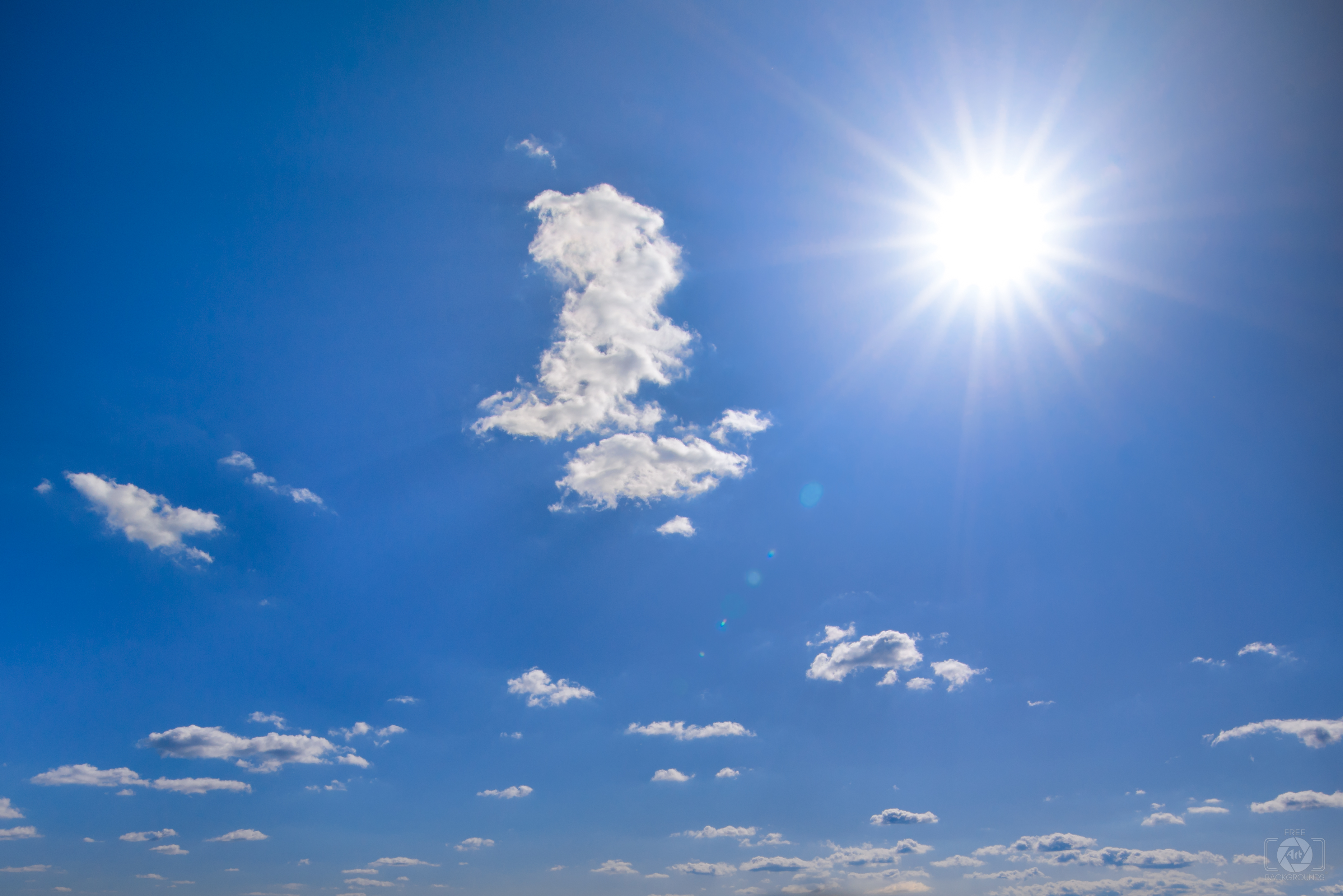 Sky with Sun Background   High quality Backgrounds 4317x2881