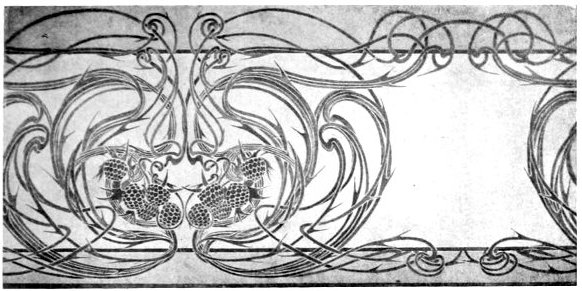 Wallpaper frieze designed by 1901 by Thomas Chisolm Source 1901 582x291