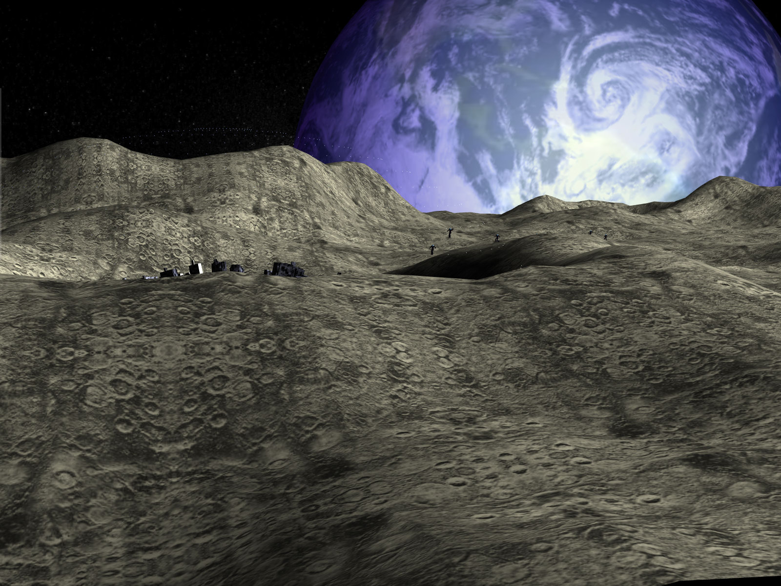 Moon base wallpaper wallpapersafari for Outer space landscape
