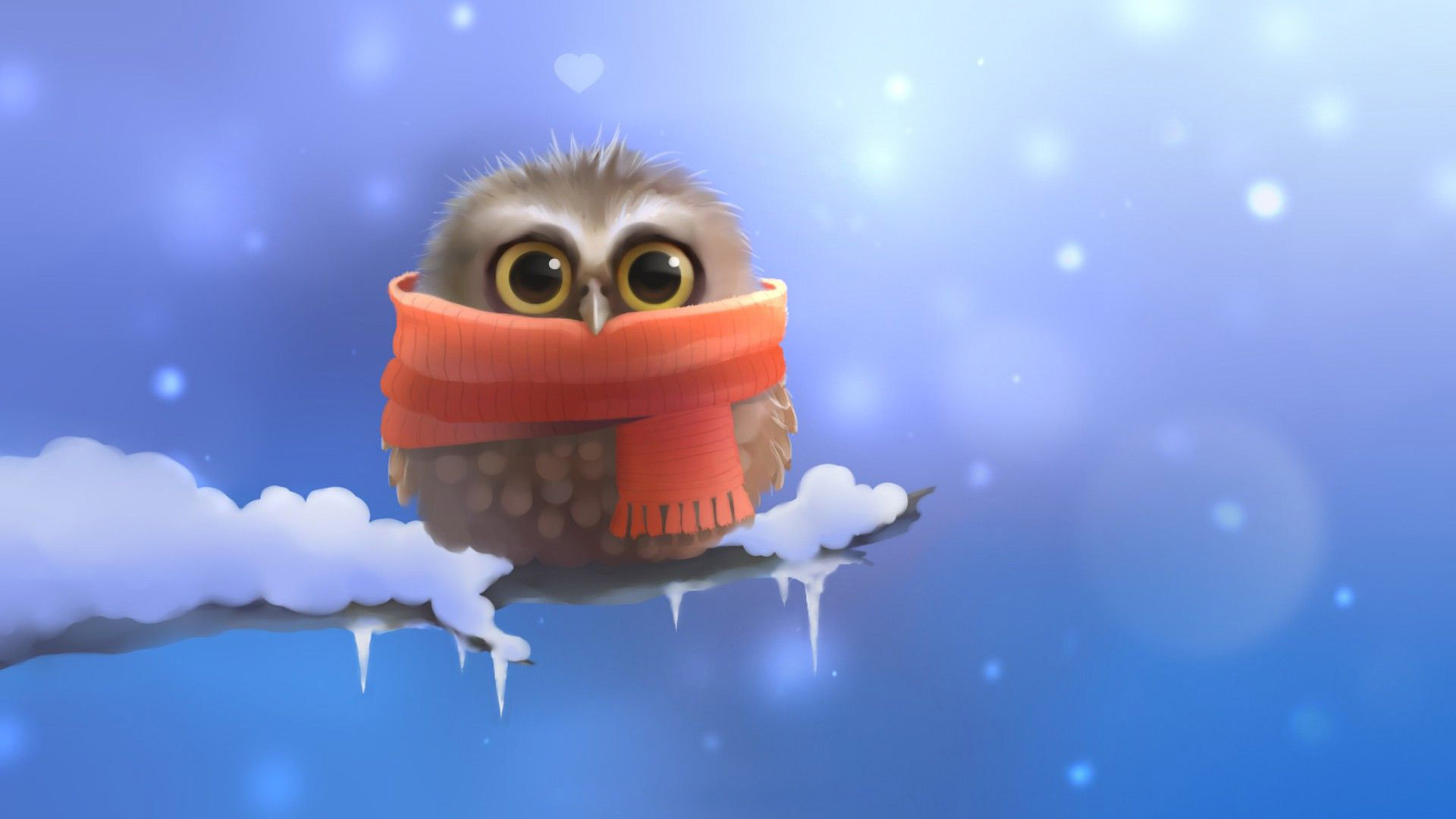 Owl On A Frozen Branch wallpapers HD   414859 1920x1080
