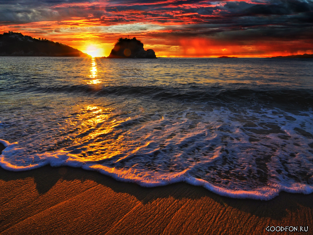 Beach Sunset Screensavers 429959 With Resolutions 1024768 Pixel 1024x768