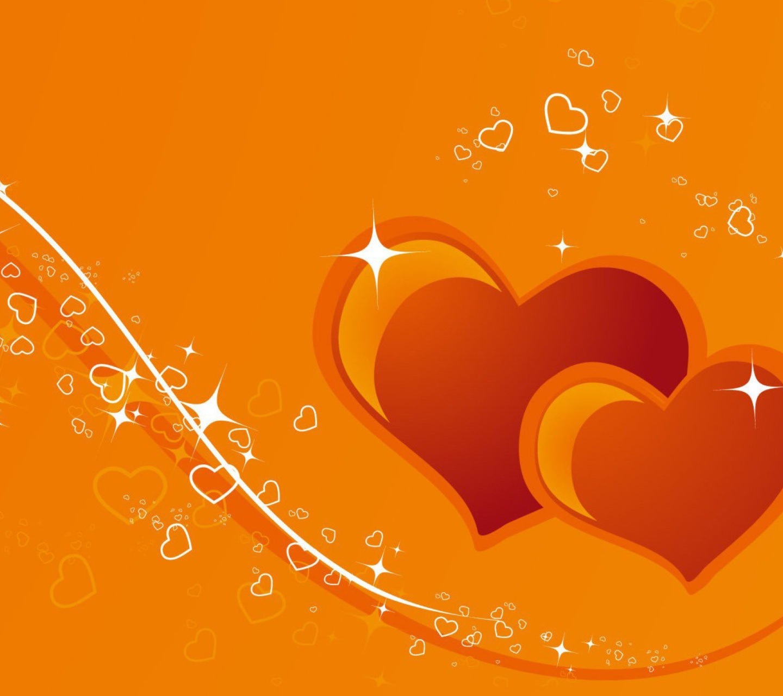 Tags Orange Hearts 1440x1280 wallpaper1440X1280 wallpaper screensaver 1440x1280