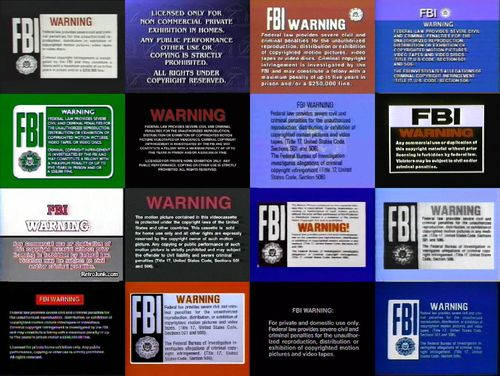 Image   FBi Warning Screen Wikia BackgroundJPG   The FBI Warning 500x376