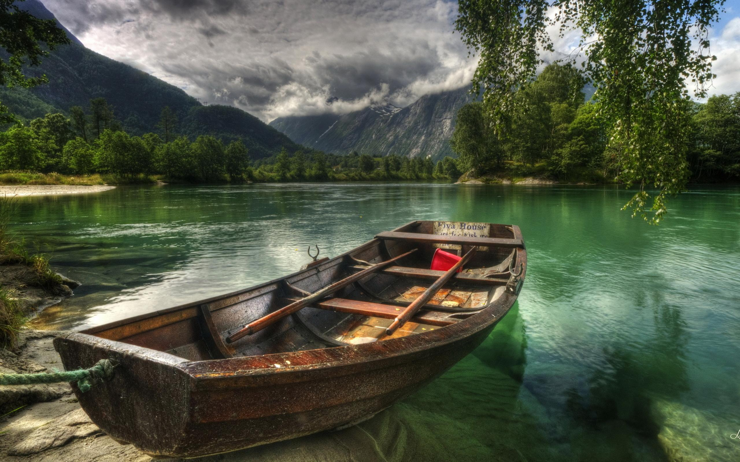 Lonely Boat wallpaper water Wallpaper Better 2560x1600