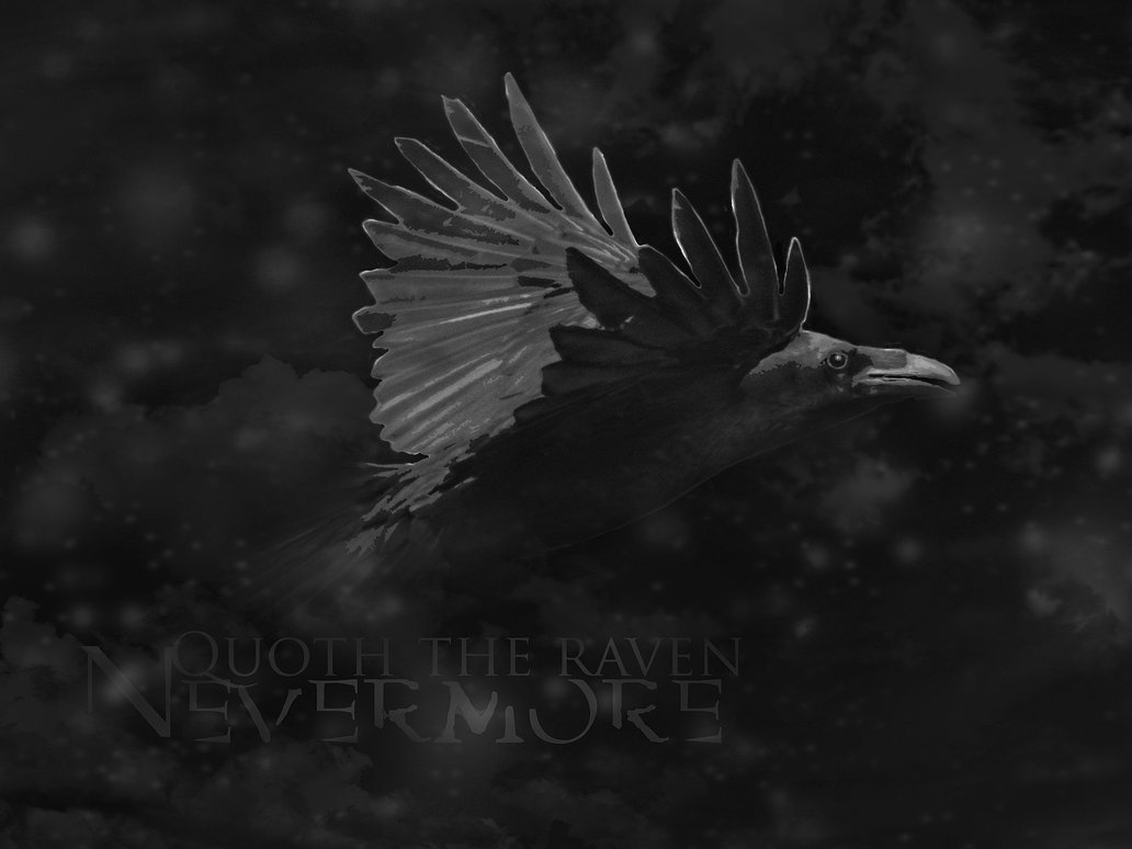 Quoth the raven Nevermore by Silver Noctis 1032x774