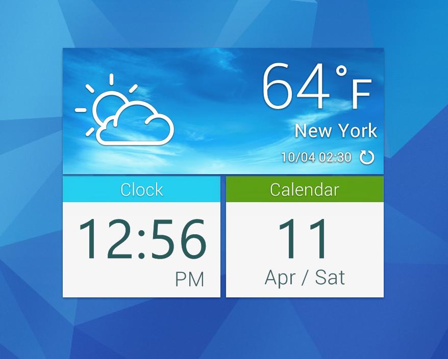 Galaxy S5 Square Widget for xwidget by jimking 878x705