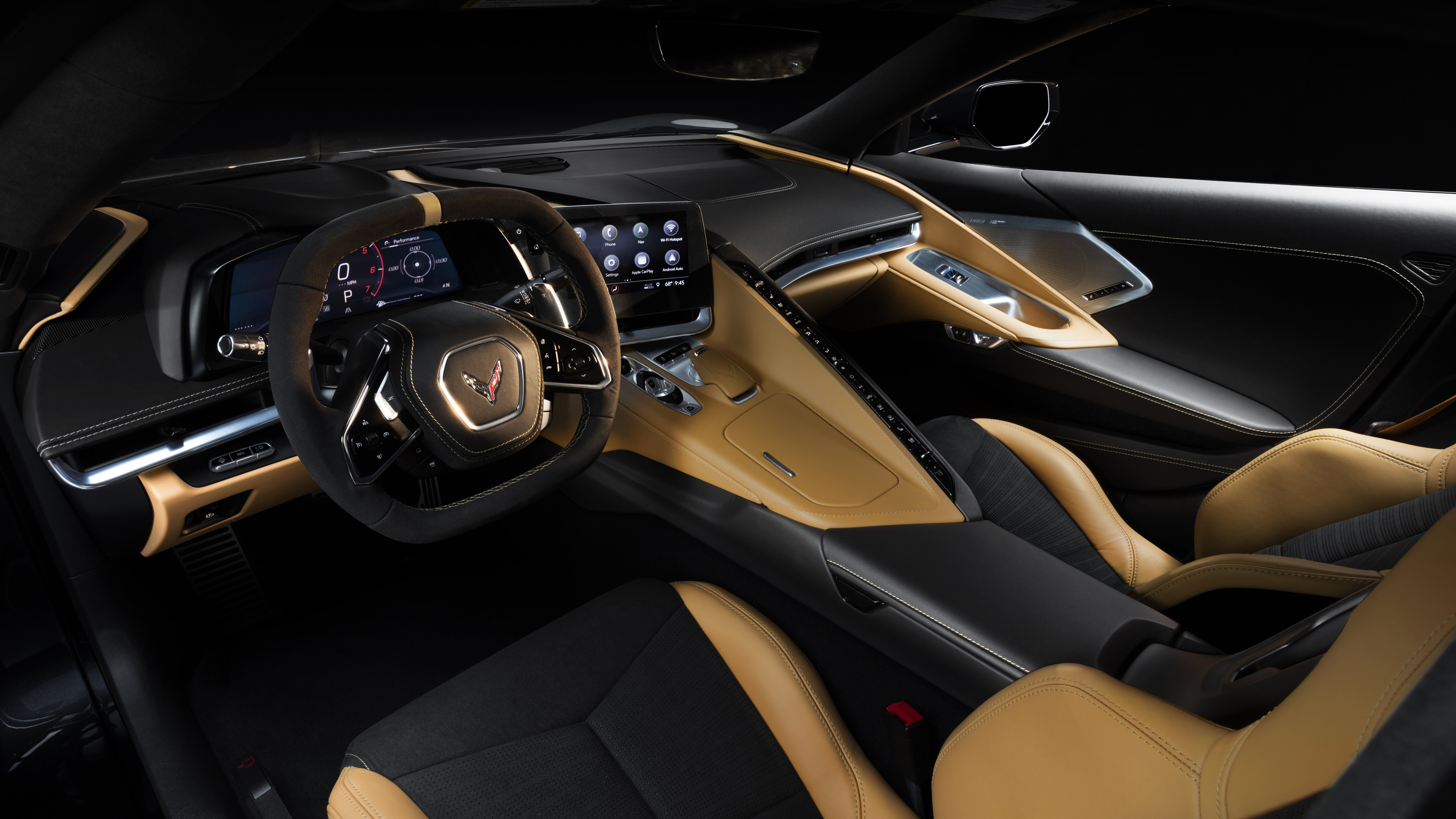 2020 Chevrolet Corvette Stingray Z51 Interior 4K Wallpaper HD 5120x2880