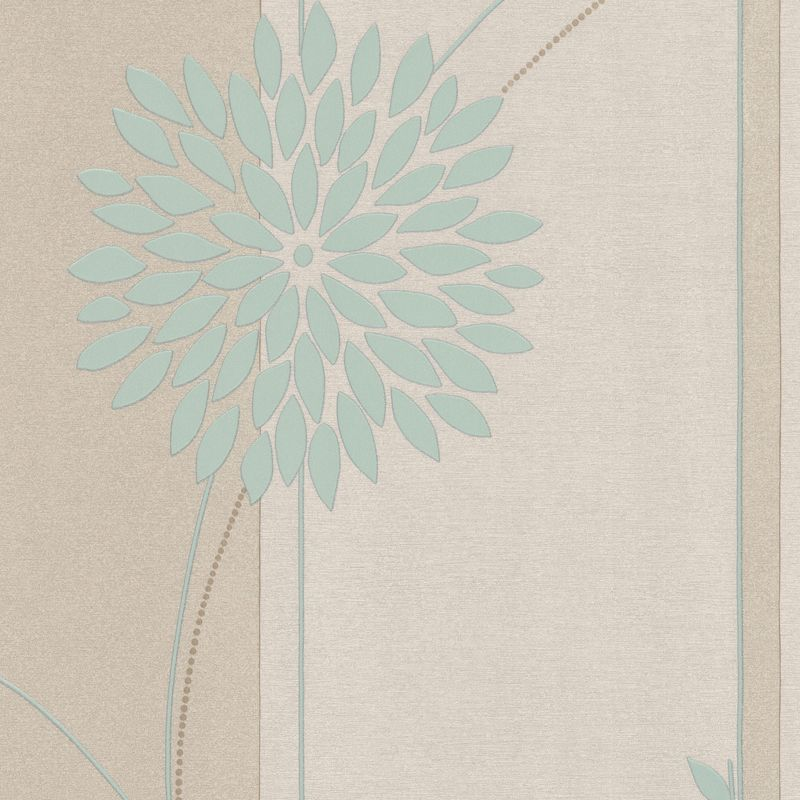 Tea Garden Wallpaper In Duck Egg And Cream By AS Creation 800x800