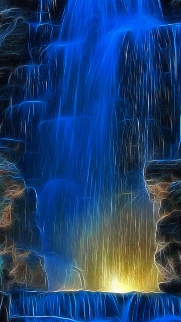 3d waterfall wallpapers download   weddingdressincom 360x640