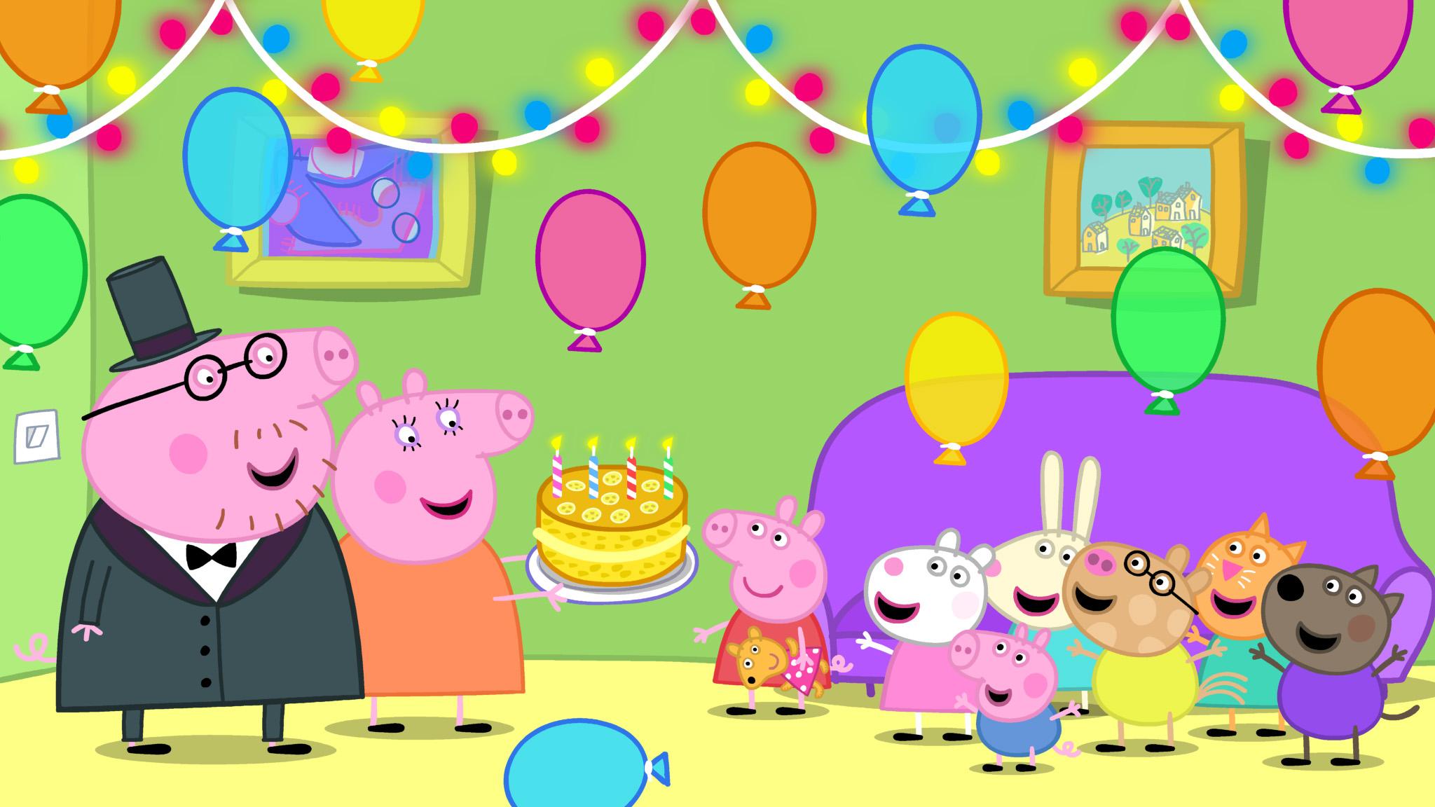 EONE PEPPA PIG DADDY PIG KIDS TELEVISION CHILDRENS TV CHILDREN 2048x1152
