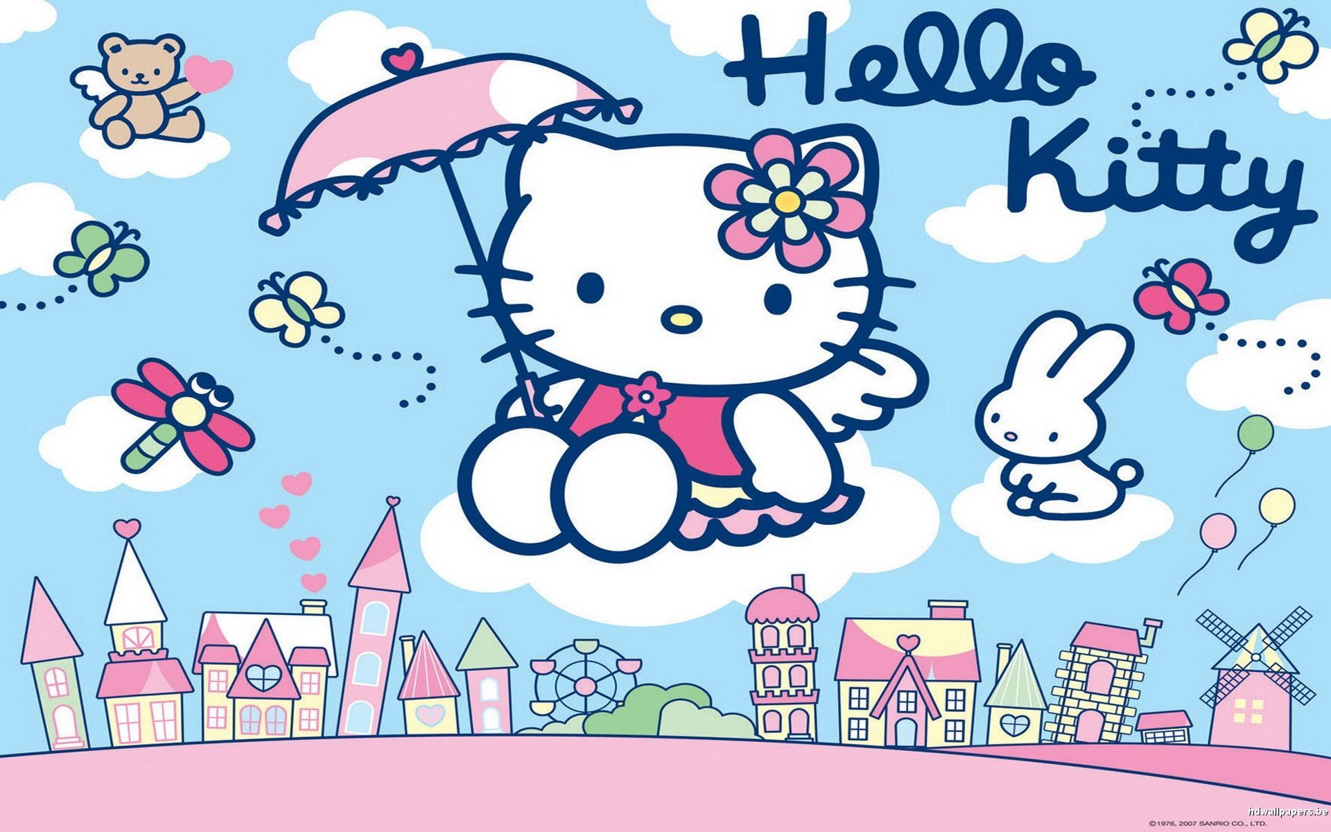 Purple Hello Kitty Wallpaper Desktop Background Long 1920x1200