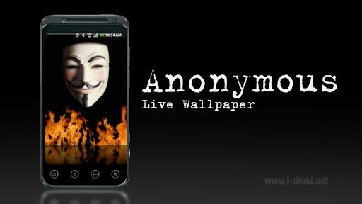 Download Anonymous Live Wallpaper for Android by Death Star Apps 512x288