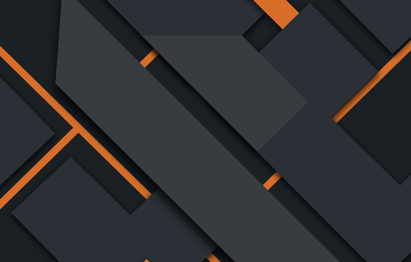 Wallpaper line abstraction geometry black design orange 1332x850