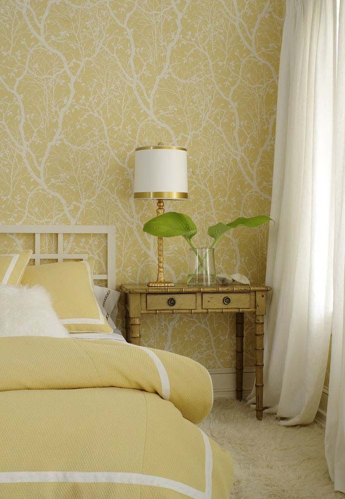 wallpaper in yellow from the Natural Resource collection Thibaut 692x1000