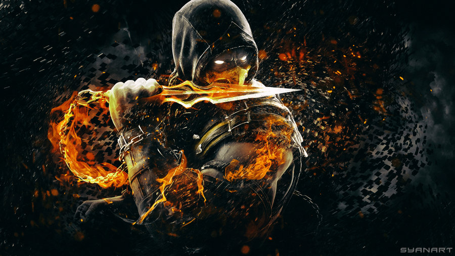 Mortal Kombat X Scorpion Wallpaper by TheSyanArt 900x506