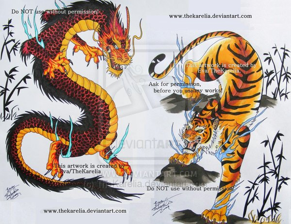 dragon vs tiger wallpaper image search results 600x461